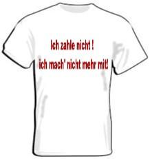 T-Shirt - ich mach nicht mehr mit